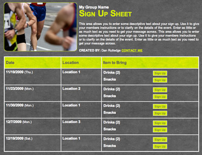 5k or Running Club online sign up