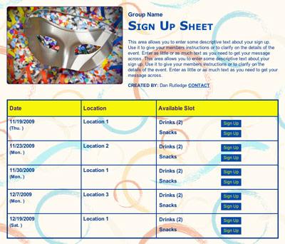 School carnival festival fundraiser volunteer sign up form