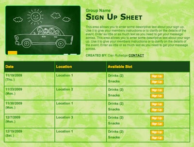 Back to school tips for Carpool calendar template